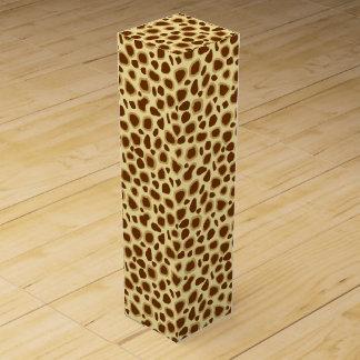 Leopard-Druck - schokoladenbraun und Kamel TAN Weinbox