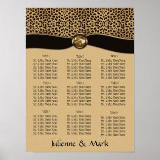 Leopard-Druck-Sitzplatz-Diagramm-Plakat