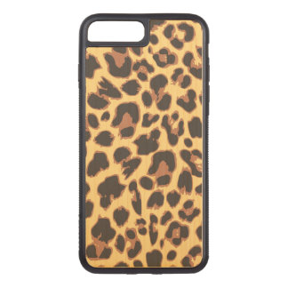 Leopard-Druck-Tierhaut-Muster Carved iPhone 8 Plus/7 Plus Hülle