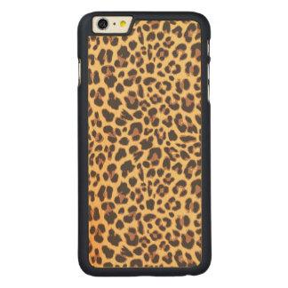 Leopard-Druck-Tierhaut-Muster Carved® Maple iPhone 6 Plus Hülle