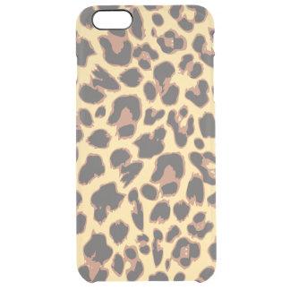 Leopard-Druck-Tierhaut-Muster Durchsichtige iPhone 6 Plus Hülle