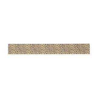 Leopard-Druck-Tierhaut-Muster Einladungsbanderole