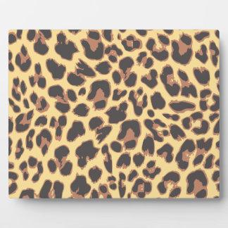 Leopard-Druck-Tierhaut-Muster Fotoplatte
