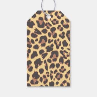 Leopard-Druck-Tierhaut-Muster Geschenkanhänger