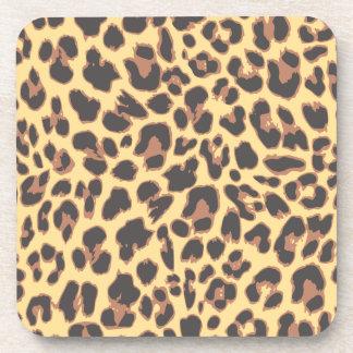 Leopard-Druck-Tierhaut-Muster Getränkeuntersetzer