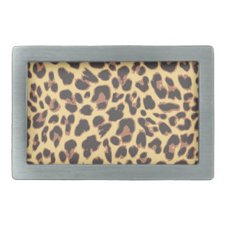 Leopard-Druck-Tierhaut-Muster Rechteckige Gürtelschnalle