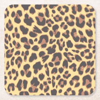 Leopard-Druck-Tierhaut-Muster Rechteckiger Pappuntersetzer