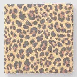 Leopard-Druck-Tierhaut-Muster Steinuntersetzer