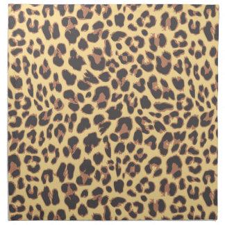 Leopard-Druck-Tierhaut-Muster Stoffserviette
