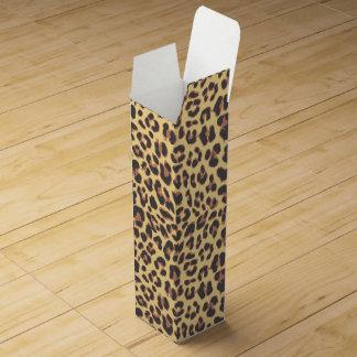 Leopard-Druck-Tierhaut-Muster Wein-Geschenkverpackung