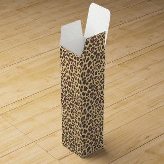 Leopard-Druck-Tierhaut-Muster Weinbox