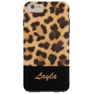 Leopard-Druck-Tierpelz personalisiert Tough iPhone 6 Plus Hülle