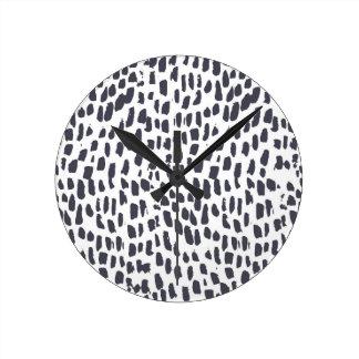 Leopard-Druck-Uhr Runde Wanduhr