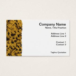 Leopard-Druck Visitenkarte
