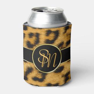 Leopard-Druck-wertvolle Goldinitialen - können Sie Dosenkühler