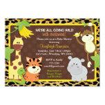 Leopard-Dschungel-Freund-Babyparty-Einladungen 12,7 X 17,8 Cm Einladungskarte