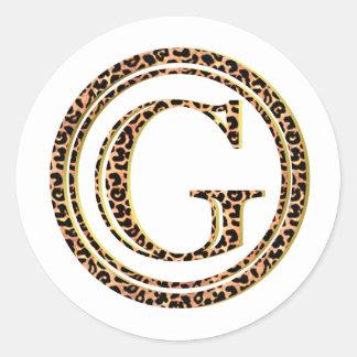 Leopard G Runder Aufkleber