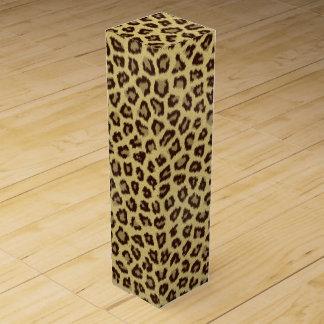 Leopard-/Gepard-Druck Weinbox