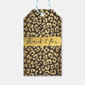 Leopard-Gepard-Tierhaut-Druck-Goldbevorzugung Geschenkanhänger