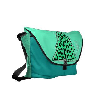 Leopard-Gepard Weihnachtsbaum-Bote-Tasche Kuriertaschen