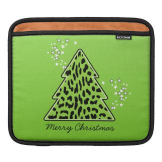 Leopard-Gepard Weihnachtsbaum iPad Hülse Sleeve Für iPads