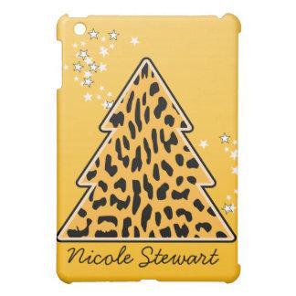 Leopard-Gepard Weihnachtsbaum iPad Mini Hülle