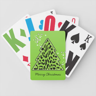 Leopard-Gepard Weihnachtsbaum-Spielkarten Bicycle Spielkarten