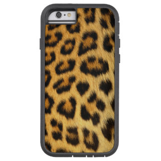 Leopard-gepunkteter Imitat-Pelz, afrikanische Tough Xtreme iPhone 6 Hülle