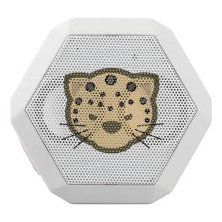 Leopard-Gesicht Weiße Bluetooth Lautsprecher