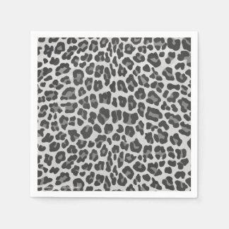 Leopard-grauer und hellgrauer Druck Serviette