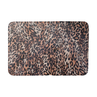 Leopard-Haut-Druck Badematte