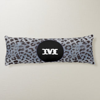 Leopard-Haut im blauen Schiefer Seitenschläferkissen