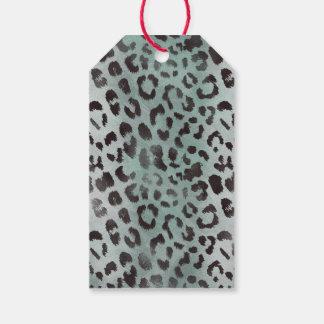 Leopard-Haut im Mandarine-Blau-Meer Geschenkanhänger