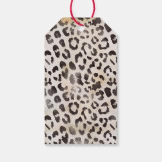 Leopard-Haut im Mandarine-Elfenbein Geschenkanhänger