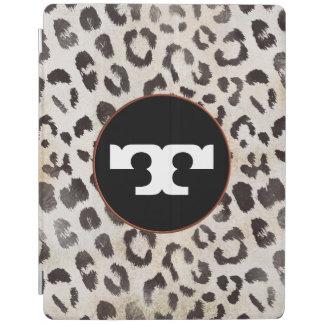 Leopard-Haut im Mandarine-Elfenbein iPad Hülle