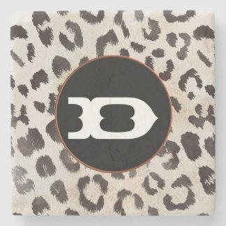 Leopard-Haut im Mandarine-Elfenbein Steinuntersetzer