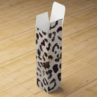 Leopard-Haut im Mandarine-Elfenbein Weinbox