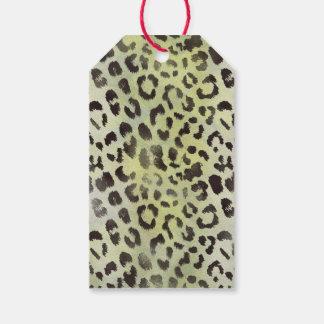 Leopard-Haut im Mandarine-Limonen Grün Geschenkanhänger