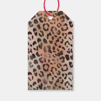 Leopard-Haut in der Mandarine-Aprikose Geschenkanhänger