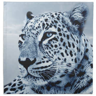 Leopard in Schwarzweiss Stoffserviette