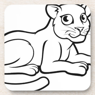 Leopard Jaguar oder Panther Getränkeuntersetzer