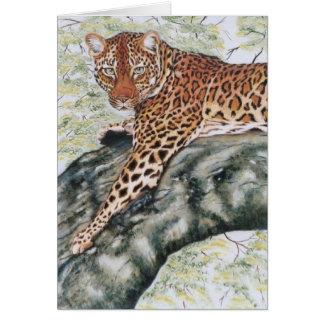"""Leopard "" Karte"