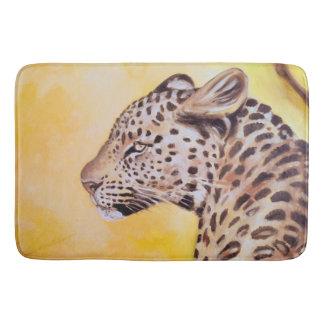 Leopard-Kunst Badematte