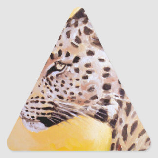 Leopard-Kunst Dreieckiger Aufkleber
