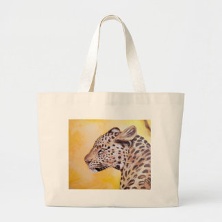 Leopard-Kunst Jumbo Stoffbeutel