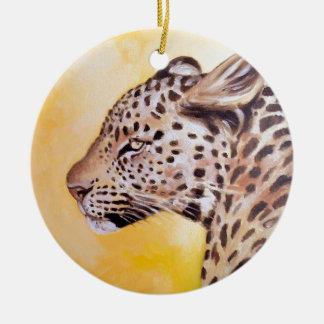 Leopard-Kunst Keramik Ornament