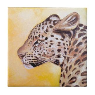 Leopard-Kunst Keramikfliese