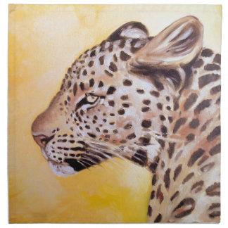Leopard-Kunst Stoffserviette