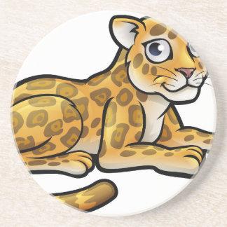 Leopard-oder Jaguar-Cartoon Getränkeuntersetzer