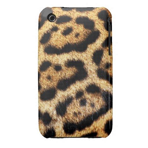 Leopard-Pelz-Blick iPhone 3 Case-Mate Hüllen